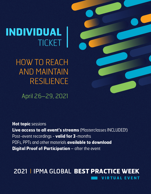 2nd IPMA Global Best Practice Week - INDIVIDUAL TICKET (Masterclass INCLUDED)