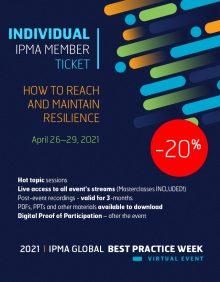 2nd IPMA Global Best Practice Week - INDIVIDUAL TICKET for IPMA MEMBER