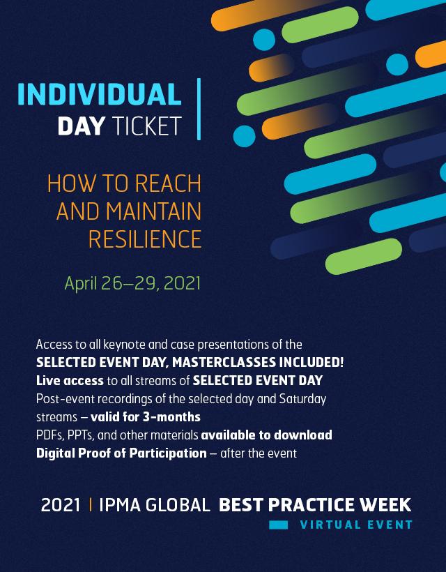 2nd IPMA Global Best Practice Week - DAY TICKET